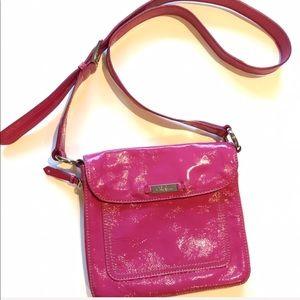 Cole Haan Raspberry Patent Leather Bag, Raspberry